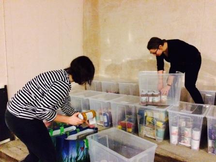 sorting boxes